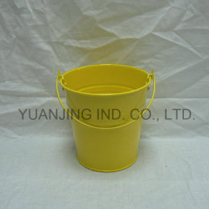 Hot Sale Powder Coating Zinc Garden Buckets with Handle pictures & photos
