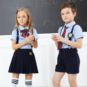 2017 Wholesale Custom Child School Uniform with Dress&Pants pictures & photos