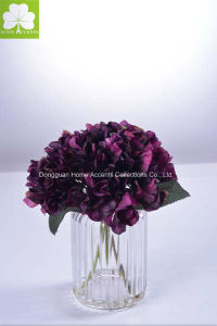 Wholesale New Item Hydrangea in Glass Pot for Home Deco