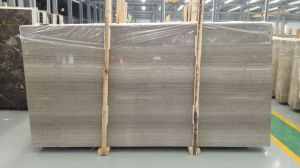 A Grade Quality Grey Wooden Marble Slabs pictures & photos