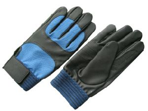 PU Reinforced Palm Mechanic Working Glove-7402 pictures & photos