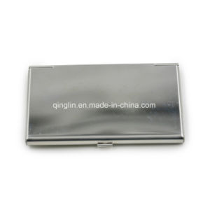 Custom Lady′s Metal Business Name Card Case pictures & photos