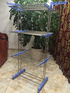 Stainless Steel or Iron Tube Drying Clothes Rack pictures & photos