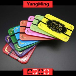 Anti-Counterfeiting / Crystal Poker Chips with Tiger Image Casino Chipss (YM-CP020-21) pictures & photos