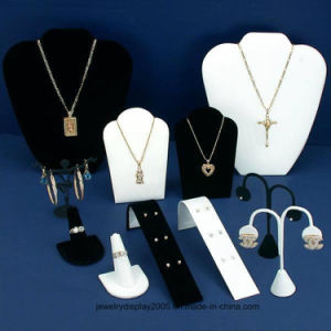 Black Velvet & White Jewelry Display 11 PC Set Bonus pictures & photos