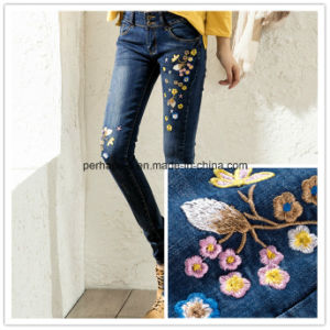 Wholesale New Women Simple Embroidered Jeans Fashion Pants pictures & photos
