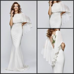White Bridesmaids Party Dress Shawl Prom Evening Dresses T93151 pictures & photos