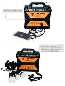 10W Portable Home Solar PV Panel Energy Power Lighting Kit pictures & photos