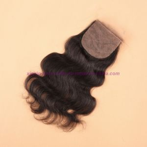 8A Virgin Human Hair Silk Base Closure Unprocessed Indian Hair Body Wave Closures pictures & photos
