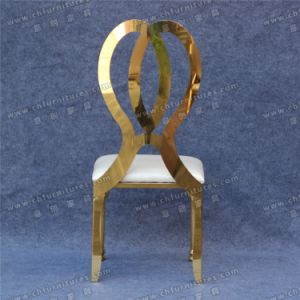 Luxury Gold Wedding Stainless Steel Legs Dining Chair (YC-ZS39) pictures & photos