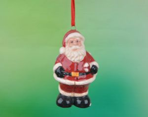 Three Santas Set Ceramic Christmas Ornaments pictures & photos