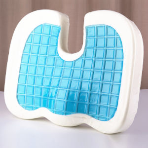 Gel Memory Foam Seat Cooling Cushion, Tailbone and Sciatica Pain Relief, Washable Cover pictures & photos