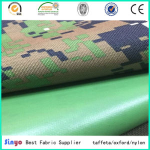 High Strength 600d PVC Backing Coated Polyester Camouflage Woven Fabric Textile pictures & photos