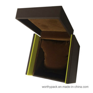 Wooden Watch Gift Box/ Storage Box with Hingled Lid and Velvet Coated pictures & photos