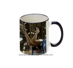 11oz Custom Cup, Color Rim&Handle Cups, Personalized Creative DIY Creative Coating Sublimation Mug pictures & photos