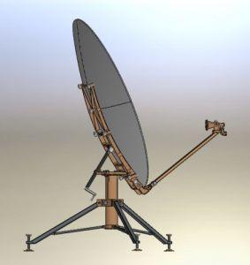 1.8m Carbon Fiber Flyaway Rxtx Satellite Antenna pictures & photos