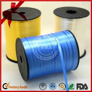 Blue Embossed Curly Ribbon for Birthday Decoration pictures & photos
