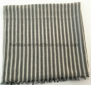 Customized Vertical Stripe Woven Cotton Stole / Pareo / Scarf (HWBC101) pictures & photos