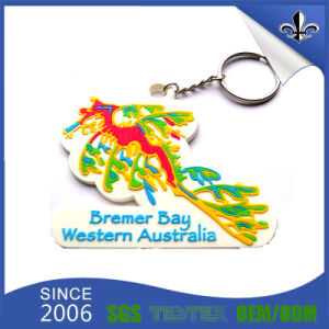 Promotional Products Key Chain with PVC Logo pictures & photos