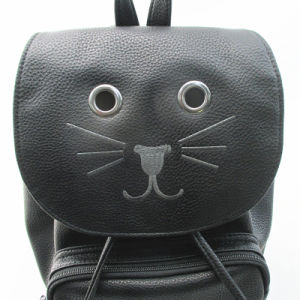 Novelty Cat Drawstring PU Rucksack pictures & photos