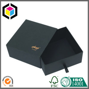 Luxury Gold Logo Black Color Gift Jewelry Paper Box pictures & photos