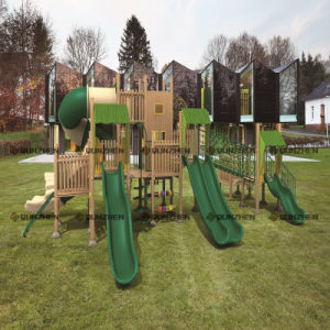 Special Design Wooden Plastic Children Indoor/Outdoor Playground pictures & photos