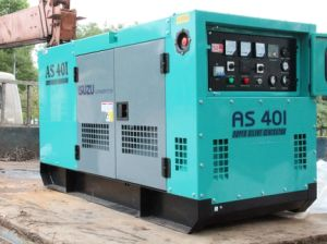 Silent Water Cooled Isuzu Engine Generator Set pictures & photos