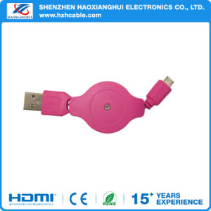 High Speed Retractable Data Micro USB Charging Cable for Android pictures & photos