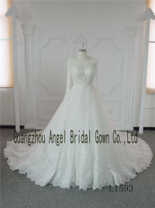 Western Strapless Corset Bridal A Line Long Sleeves Wedding Dress pictures & photos