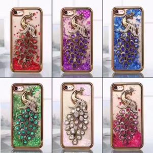Peacock Liquid Glitter Water Bling Sparkly TPU Soft Case for iPhone 6 7 pictures & photos