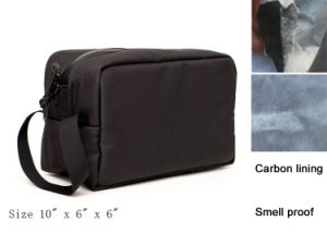 Smell Proof Odorless Cosmetic Bag with Charcoal Lining pictures & photos