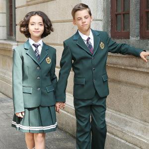 100% Polyester Stylish School Uniform Navy Blazer pictures & photos