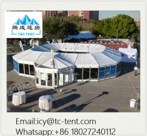 500 People Round Tent Polygonal Multi-Sides Tent with Glass Walls pictures & photos
