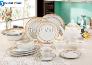Bulk Cheap White Wholesale Round Flat Ceramic Porcelain Dinner Plate pictures & photos