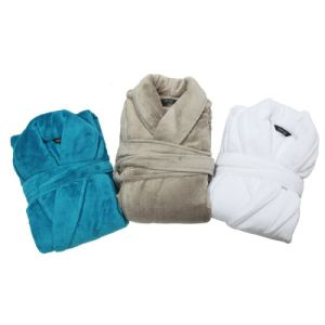 High Quality Polyester Polar Fleece Velvet/Velour Hotel Bathrobe pictures & photos