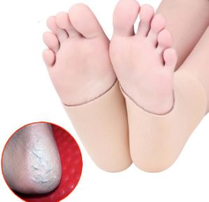 New Silicone Moisturizing Gel Heel SPA Socks Nursing Heel Crack Anti-Dryness Anti-Cracking Skating Heel Protective Sock pictures & photos