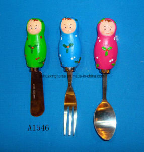 Christmas Decorative Cheese/Butter Spreader with Resin Handle pictures & photos