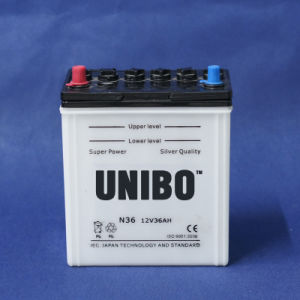 High Quality Dry Charged Battery JIS N36 12V36ah Car Battery pictures & photos