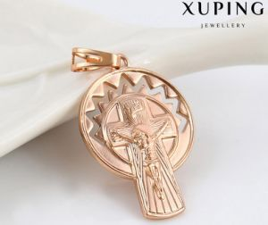 32785 Fashion Religion Rose Gold Jewelry Cross Pendant pictures & photos