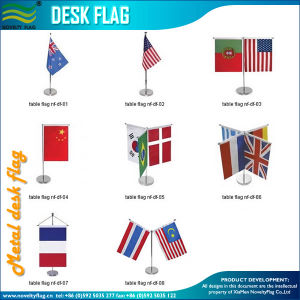 Decrative Flag, Table Banner, Desk Flag, Metal Stand (J-NF09M03017) pictures & photos