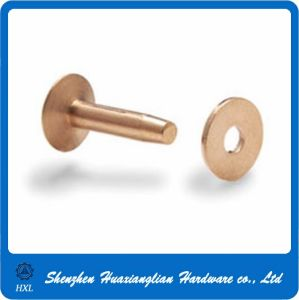Customized Plain Brass Steel Flat Head Rivet Nuts pictures & photos