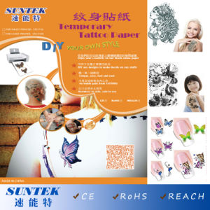 Colorful Temporary Tattoo Paper Fashinable Baby Tattoo Sticker pictures & photos