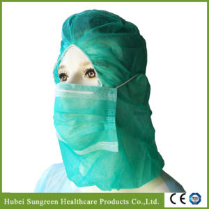 Disposable Non-Woven Headcover, Hood with Face Mask pictures & photos