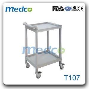 Hospital ABS Treatment Trolley Nursing Cart with Three Layers pictures & photos