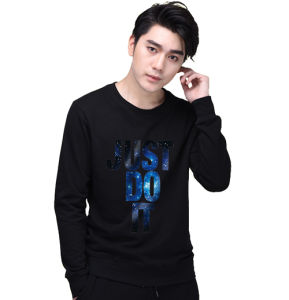 Hot Sale Men Black Printed 60%Cotton40%Polyester Sweatshirts pictures & photos