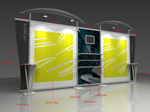 Aluminum Modular Floor Stand Exhibition Display Shelf for Advertising & Trade Show (DY-W-004) pictures & photos