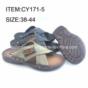 Latest Design Men Casual Slippers Shoes Comfortable Beach Sandals (FFCY0411-04) pictures & photos
