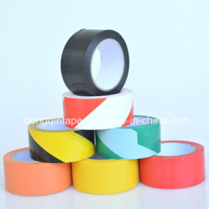 Hot Sales Yellow-Black Stripped PVC Floor Warning Marking Tape with Rubber Adhesive pictures & photos