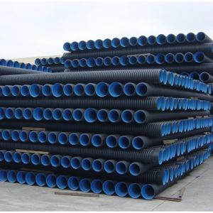 HDPE Double Wall Corrugated Pipes for Buried Cable Protection pictures & photos