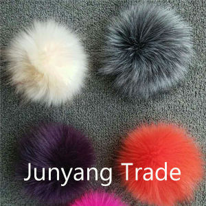 Fashion Style Red 11cm Fox Fur Pompom pictures & photos
